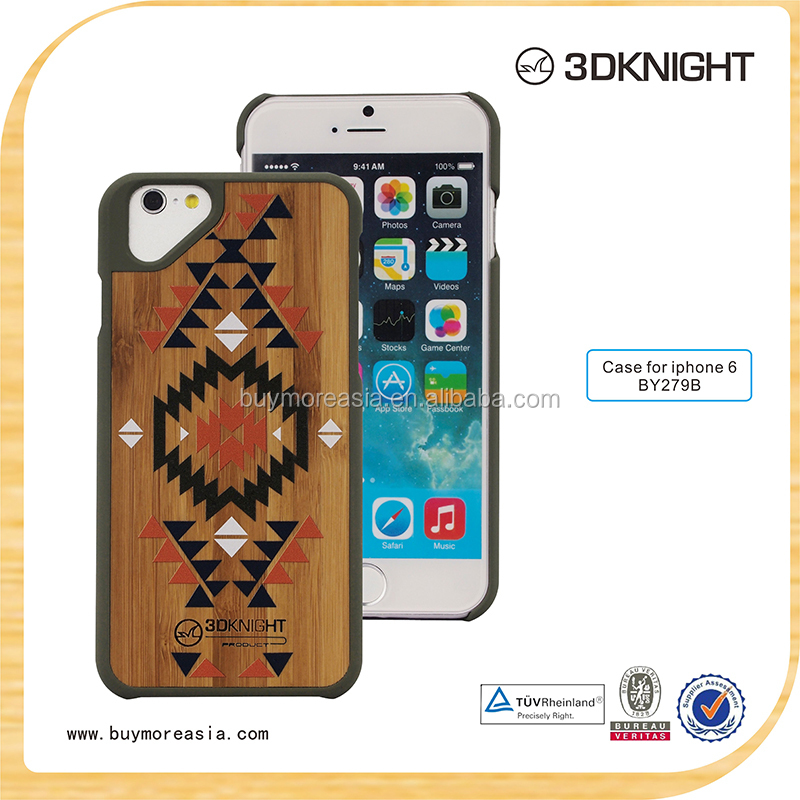 Cell phone accessory Ultra Thin Paint Hard Wood Case Cover 3d multicolor unique design cases for iphone 6 6s alibaba china