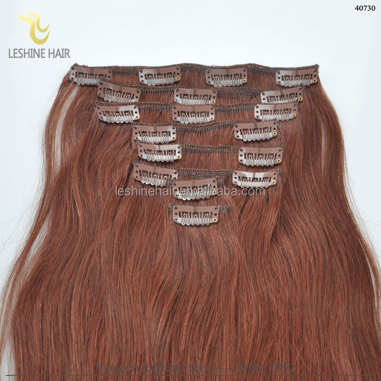Free Chemical Treatment Charming clip in human hair extensions for black women