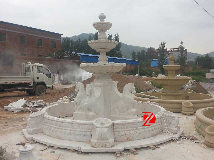 Natural Outdoor Hand Carved Stone Fountain