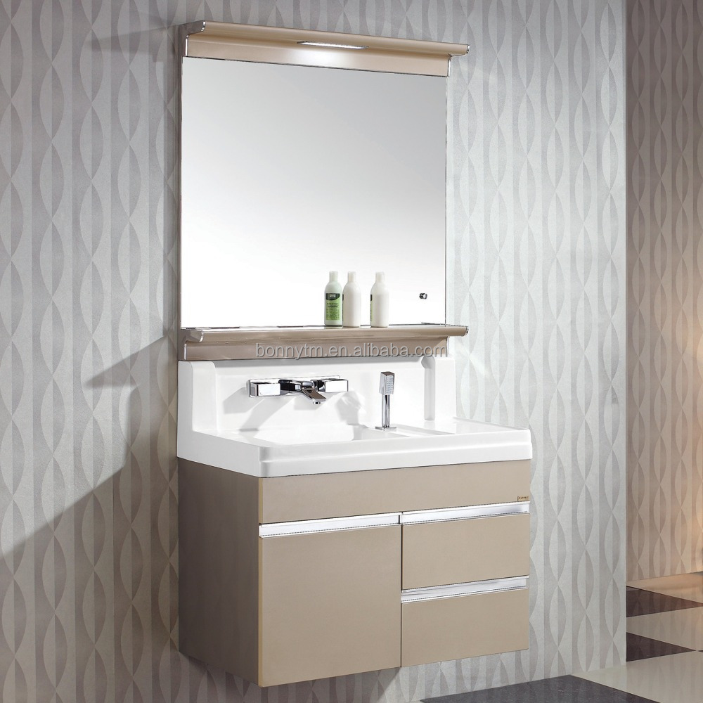 Stainless steel bathroom funiture bathroom vanity cabinet bathroom mirror with light buy Stainless steel bathroom vanities