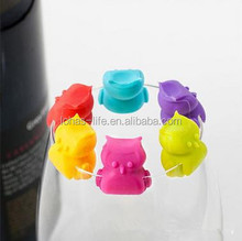 Food Grade Silicone Drink Marker Fancy Party Cup Identifier