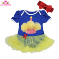 Adorable Baby Short Sleeve Summer Romper Clothes New Born Baby Girls First Birthday Baby Tutu Romper