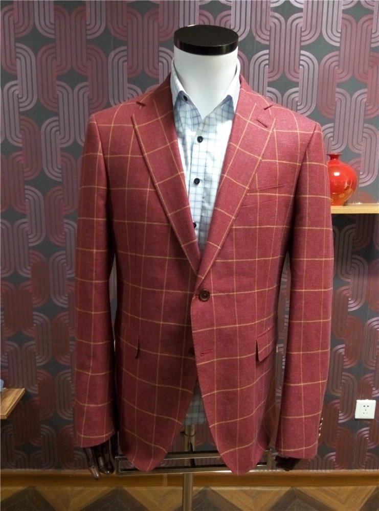 3 piece latest design men suit with chinese taditional handicrafts
