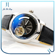 2014 New Tourbillon Watches Automatic Movement With Water Resistant Leather Strap