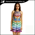 Wholesale Printing Women Backless Digital evening fashion Sexy Tank Dress