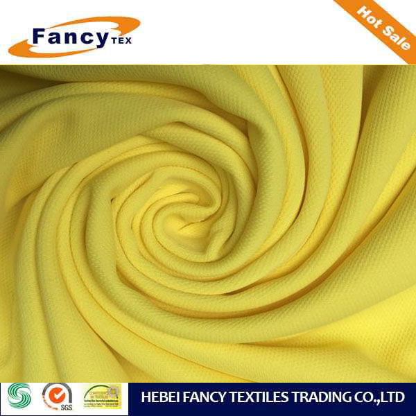 100% poly dry fit yarn pique fabric