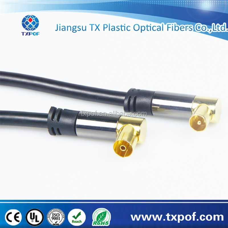 HDTV right angle to right angle female Antenna cable Gold-plated Connectors