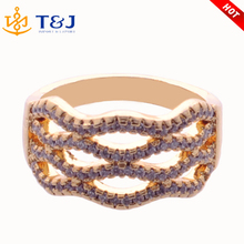 2016 Fashion High Quality Hollow Crystal Rings Jewelry Women Engagement Wedding Finger Rings Luxurious Gold Plated Jewelry Rings