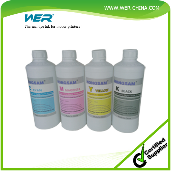 Thermal dye ink for indoor printers