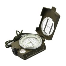 High Quality Military Optical Lensatic Sighting Compass with Pouch Metal Waterproof Compass Color Camouflage
