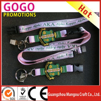 Greek merchandise AKA - Alpha Kappa Alpha lanyard with soft pvc crest