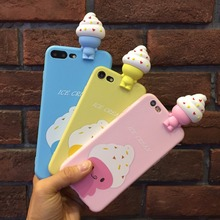 For iphone x case---cartoon stylish stereoscopic papa ice cream soft tpu protective case,smooth shell skin