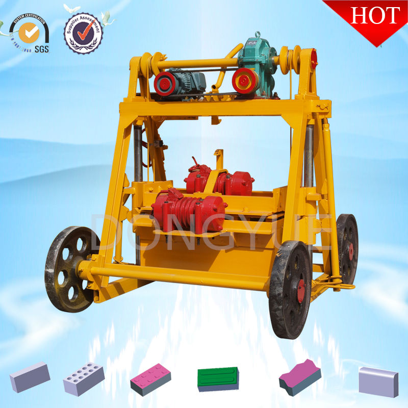 Manual concrete hollow block making machine QT40-3B for small buisness