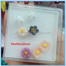 Small customized plastic gift box for stud earings