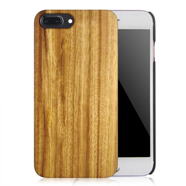 High quality PC bottom wood case real wood phone case protective back covers for iPhone 6Plus 7Plus