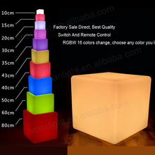 LED Cube Chair for coffee ship/led mood light cube/Wireless Remote Control led 40cm cube chair indoor