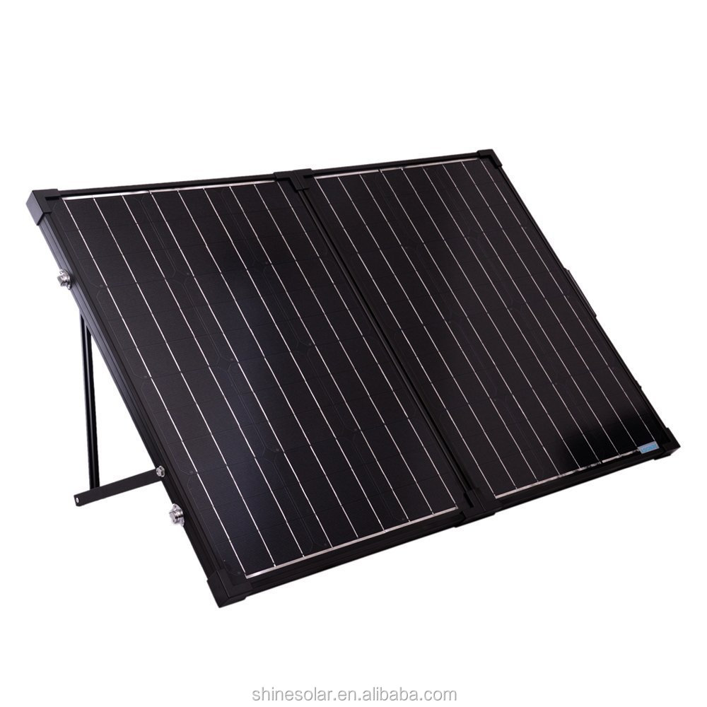 Customized designed high efficiency best price 12v 100w folding solar panel for RV , home use
