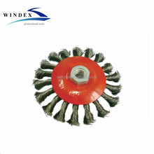Twist knot bevel steel wire cup industrial brush 85mm,100mm,115mm,125mm,150mm