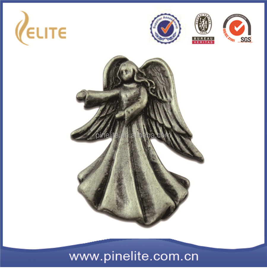soft enamel style and zinc alloy type wholesale angel pins,custom metal badge
