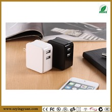 Intelligent 5V 3.4A mobile power adapter dual USB port Charger With Smart Sharing IC for each USB Port with CB UL FCC etc approv