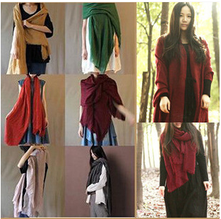2015 New Pure color style scarf Silk scarves Cotton and linen fabrics wholesale scarf