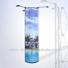 Hot sale & flexible Curve & Round pop up display with PVC panel, small pop up display for trade shows, exhibition booth