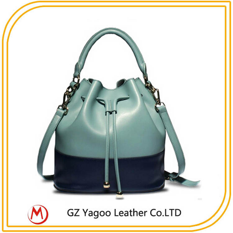 2016 designer leather bucket bag