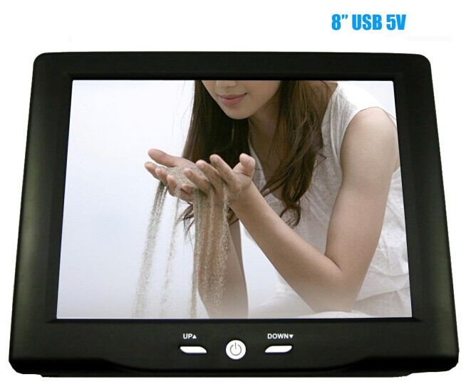 "Wall mount metal case USB 5V 7"" inch touch screen monitor"