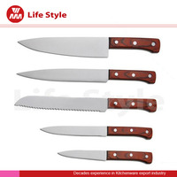 Unique design stainless steel cooking kitchen knife set