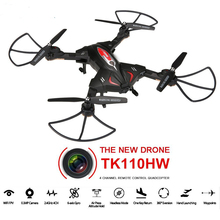 TK110HW RC Quadcopter Pocket Selfie foldable Drone with hd camera phone wifi control