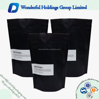Gravure printing aluminum foil resealable stand up zipper pouches black mylar bags with design logo