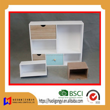 Factory direct sale custom different shapes and size wooden children kids toy book storage cabinet