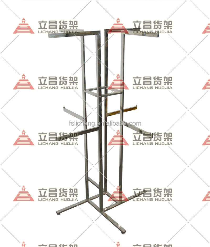 garment store Stainless steel all round clothes shelf