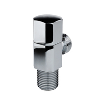 China Manufacture forged chrome plated brass water angle valve for toilet /bathroom/kitchen