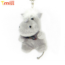 Custom high quality soft stuffed plush rhino for keychains