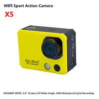 "4K WIFI Full HD Camcorder 1080p Waterproof 50Meter With Remote Controller_2.0""_Night Version_Cycle Recording_Diving Mode"