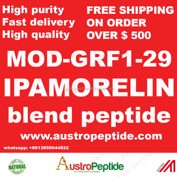 Anti aging peptide blended ipamorelin 2mg + mod grf 1-29 high purity cjc 1295 without dac 2mg with ipamorelin 2mg