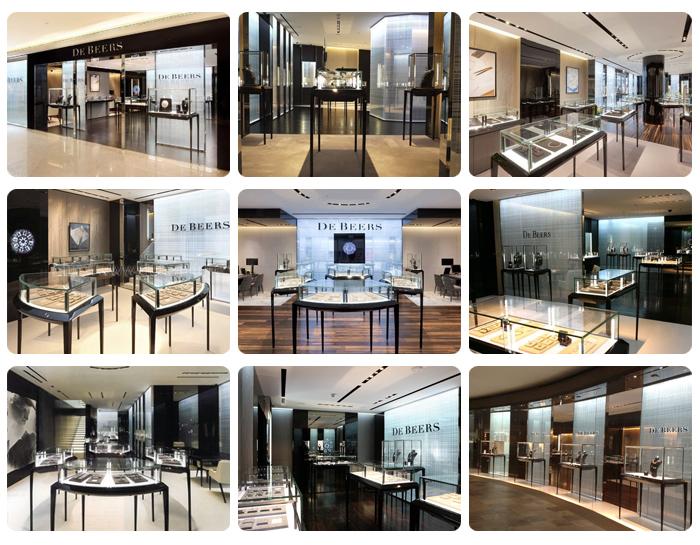 more similar design for luxury jewelry shop interior design
