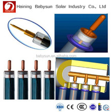 2015China factory low price borosilicate glass 3.3 solar vacuum tube with heat pipe, solar evacuated tube for solar collector