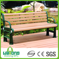 New production anti-breaking anti UV waterproof wpc park bench garden chair