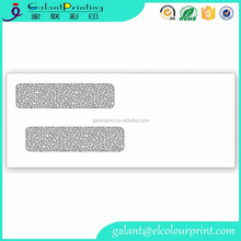 Double window business envelopes with two side printing