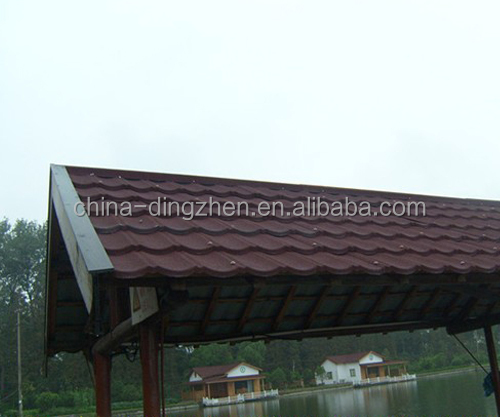 metra galvanized sheet / colorful sand coated metal roofing tiles for house