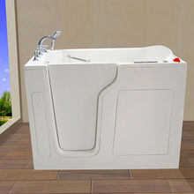 Big walk in bathtub with lower step for fat people CWB3555