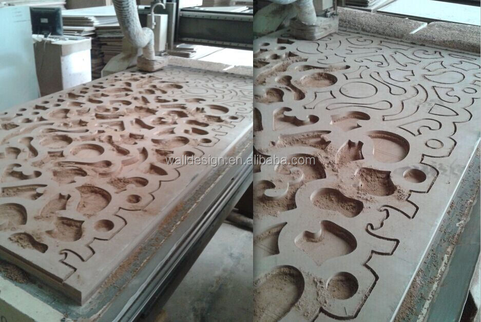 Mdf decorative grilel panels used for hotel screen view for Decorative mdf