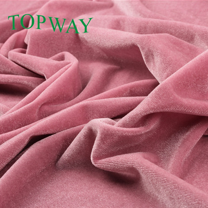 "54 / 55"" silk rayon velvet fabric for garment"