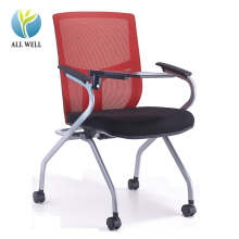 Conference room folding chair student chair with writing tablet