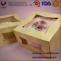 Wholesale High Quality FDA Custom Decoration Paper Cupcake packaging