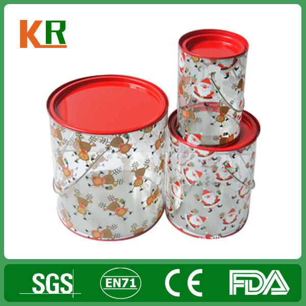Clear pvc Tin Bucket and Tin Pail