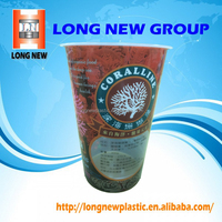 Heat Shrink Sleeve Wrap Label on drink plastic cup