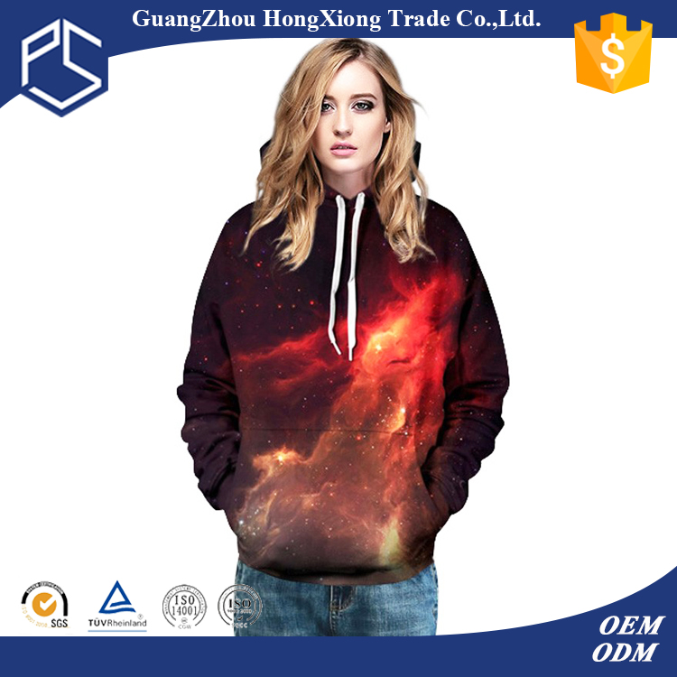 Fashional 100% Polyester Women Qualited Women Custom 3d Printing Sweatshirt